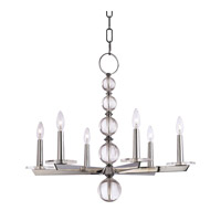 Hudson Valley Lighting Ashley 6 Light Chandelier in Polished Nickel 316-PN