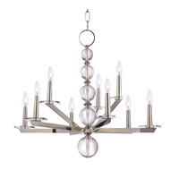 Ashley 9 Light 34 inch Polished Nickel Chandelier Ceiling Light