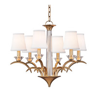Marcellus 6 Light 25 inch Aged Brass Chandelier Ceiling Light