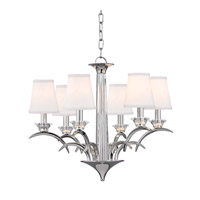 Marcellus 6 Light 25 inch Polished Nickel Chandelier Ceiling Light