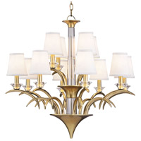 Marcellus 12 Light 33 inch Aged Brass Chandelier Ceiling Light