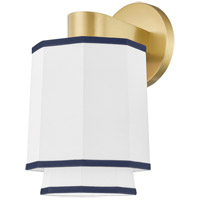 Hudson Valley 3201-AGB Riverdale 1 Light 7 inch Aged Brass Wall Sconce Wall Light