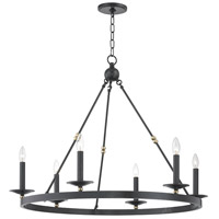 Hudson Valley 3206-AOB Allendale 6 Light 36 inch Aged Old Bronze Chandelier Ceiling Light