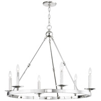 Hudson Valley 3206-PN Allendale 6 Light 36 inch Polished Nickel Chandelier Ceiling Light