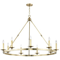 Hudson Valley 3209-AGB Allendale 9 Light 47 inch Aged Brass Chandelier Ceiling Light
