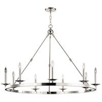 Hudson Valley 3209-PN Allendale 9 Light 47 inch Polished Nickel Chandelier Ceiling Light
