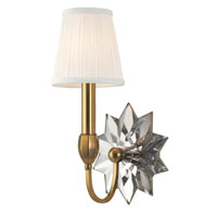Hudson Valley Lighting Barton 1 Light Wall Sconce in Aged Brass 3211-AGB