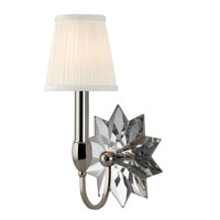 Hudson Valley Lighting Barton 1 Light Wall Sconce in Polished Nickel 3211-PN