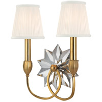 Hudson Valley 3212-AGB Barton 2 Light 14 inch Aged Brass Wall Sconce Wall Light