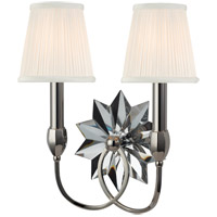 Hudson Valley Lighting Barton 2 Light Wall Sconce in Polished Nickel 3212-PN