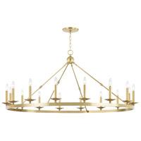 Hudson Valley 3216-AGB Allendale 16 Light 58 inch Aged Brass Chandelier Ceiling Light