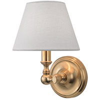 Sidney 1 Light 7 inch Aged Brass Wall Sconce Wall Light