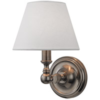 Hudson Valley Lighting Sidney 1 Light Wall Sconce in Historic Nickel 3221-HN