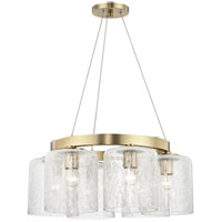 Hudson Valley 3224-AGB Charles 6 Light 24 inch Aged Brass Chandelier Ceiling Light