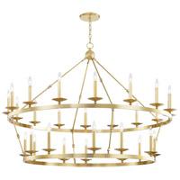 Hudson Valley 3228-AGB Allendale 28 Light 58 inch Aged Brass Chandelier Ceiling Light