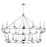 Hudson Valley 3228-PN Allendale 28 Light 58 inch Polished Nickel Chandelier Ceiling Light