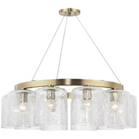 Charles 10 Light 35 inch Aged Brass Chandelier Ceiling Light