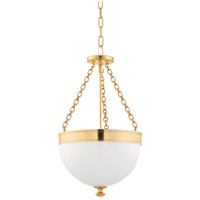 Hudson Valley 324-AGB Barrington 3 Light 14 inch Aged Brass Pendant Ceiling Light