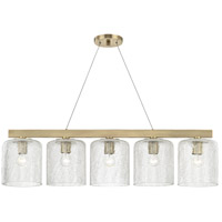 Hudson Valley 3240-AGB Charles 5 Light Aged Brass Island Light Ceiling Light