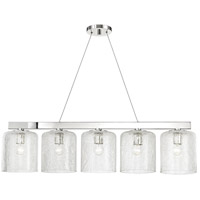 Hudson Valley 3240-PN Charles 5 Light Polished Nickel Island Light Ceiling Light
