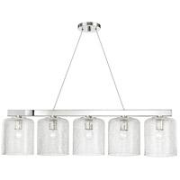 Hudson Valley 3240-PN Charles 5 Light Polished Nickel Island Light Ceiling Light