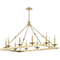 Allendale 10 Light 27 inch Aged Brass Chandelier Ceiling Light