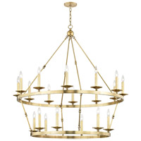 Hudson Valley 3247-AGB Allendale 20 Light 47 inch Aged Brass Chandelier Ceiling Light