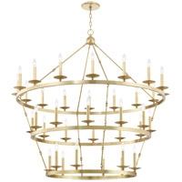 Hudson Valley 3258-AGB Allendale 36 Light 58 inch Aged Brass Chandelier Ceiling Light