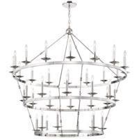 Hudson Valley 3258-PN Allendale 36 Light 58 inch Polished Nickel Chandelier Ceiling Light