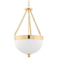 Barrington 3 Light 17 inch Aged Brass Pendant Ceiling Light