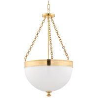 Hudson Valley 327-AGB Barrington 3 Light 17 inch Aged Brass Pendant Ceiling Light