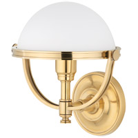 Hudson Valley 3301-AGB Stratford 1 Light 10 inch Aged Brass Wall Sconce Wall Light photo thumbnail
