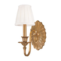 Hudson Valley Lighting Empire 1 Light Wall Sconce in Aged Brass 331-AGB