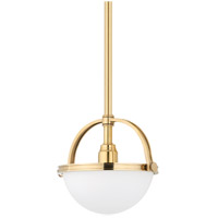 Hudson Valley Lighting Stratford 1 Light Pendant in Aged Brass 3311-AGB