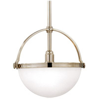 Hudson Valley 3311-PN Stratford 1 Light 10 inch Polished Nickel Pendant Ceiling Light
