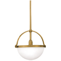 Hudson Valley Lighting Stratford 1 Light Pendant in Aged Brass 3312-AGB