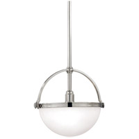 Hudson Valley Lighting Stratford 1 Light Pendant in Polished Nickel 3312-PN