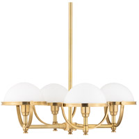 Hudson Valley 3314-AGB Stratford 4 Light 27 inch Aged Brass Chandelier Ceiling Light photo thumbnail