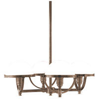 Hudson Valley Lighting Stratford 4 Light Chandelier in Historic Bronze 3314-HB