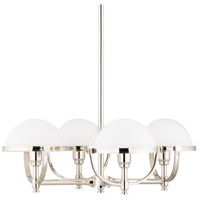 Hudson Valley 3314-PN Stratford 4 Light 27 inch Polished Nickel Chandelier Ceiling Light