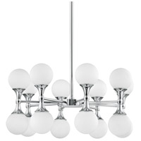 Astoria LED 27 inch Polished Chrome Chandelier Ceiling Light, Opal Etched