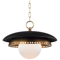 Herkimer 1 Light 18 inch Aged Brass Pendant Ceiling Light