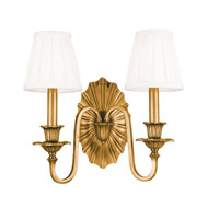 Empire 2 Light 14 inch Aged Brass Wall Sconce Wall Light