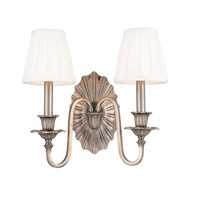 Empire 2 Light 14 inch Old Nickel Wall Sconce Wall Light