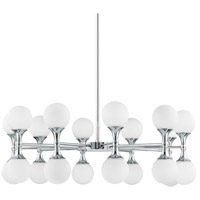 Astoria LED 36 inch Polished Chrome Chandelier Ceiling Light, Opal Etched