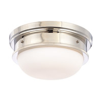 Trumbull 2 Light 13 inch Polished Nickel Flush Mount Ceiling Light