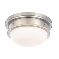 Trumbull 2 Light 13 inch Satin Nickel Flush Mount Ceiling Light