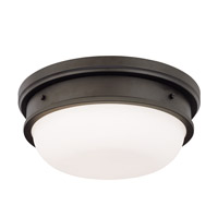 Trumbull 3 Light 16 inch Old Bronze Flush Mount Ceiling Light