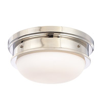 Trumbull 3 Light 16 inch Polished Nickel Flush Mount Ceiling Light