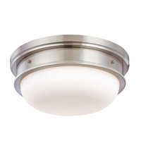 Trumbull 3 Light 16 inch Satin Nickel Flush Mount Ceiling Light